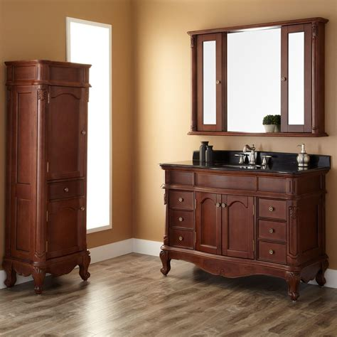 drawer pulls and 48 quot sedwick brown cherry vanity bathroom
