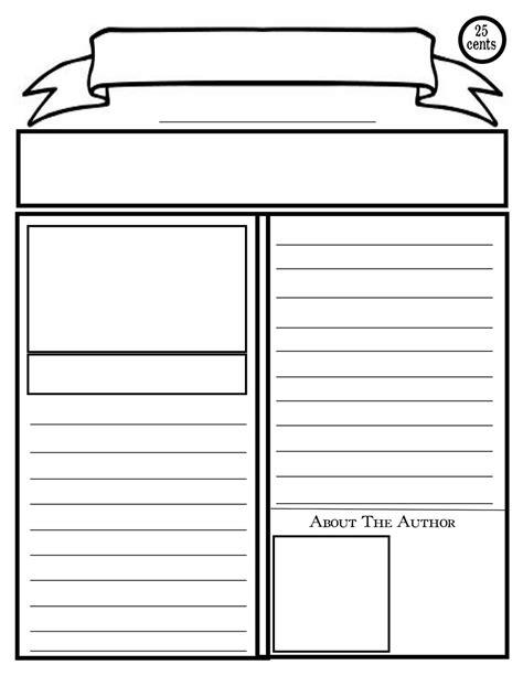 blank newspaper template  kids printable newspaper