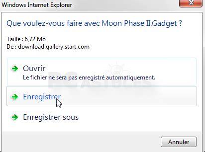 afficher le bureau windows 7 pc astuces afficher les phases de la lune sur bureau