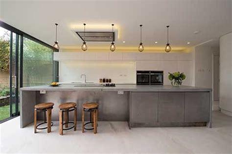 kitchen worktop lights concrete kitchens this 4m concrete island worktop 3523