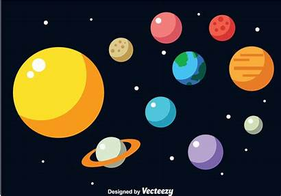 Solar System Vector Earth Planet Illustration Planets