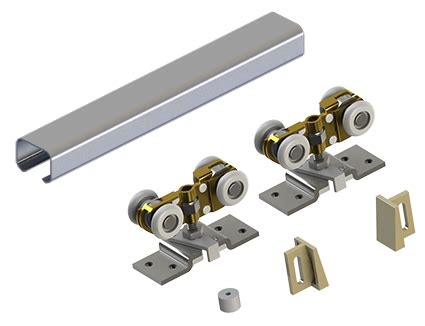 pocket door track hager 9678 heavy duty pocket door trackset for doors up to