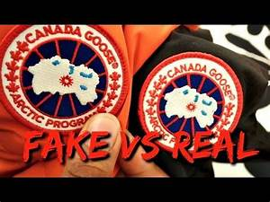 Canada goose fake vs original