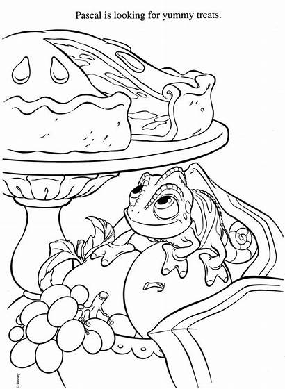 Tangled Coloring Pascal Pages Disney Rapunzel Maximus