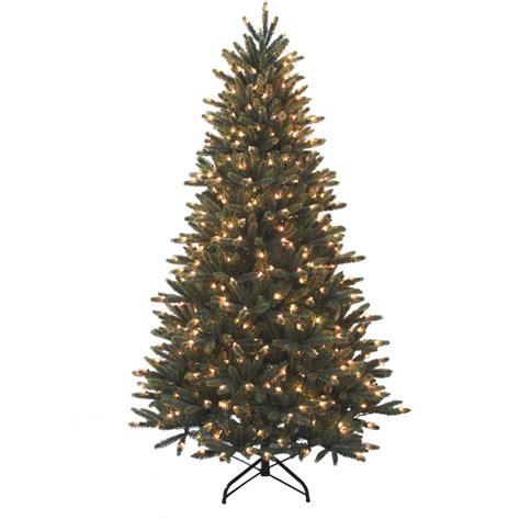 shop holiday living 7 ft pine pre lit artificial christmas