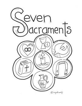 sacraments reflection booklet  ingrids art tpt