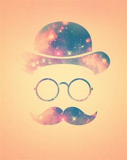 Hipster Galaxy Glasses Face Moustache Rietz Philipp