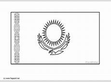 Coloring page flag Kazakstan img 6289