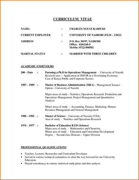How To Write A Professional Cv Sles by 13 How To Write A Cv Student Lease Template