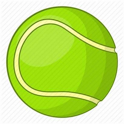 Tennis Ball Cartoon Sport Sign Equipment Icon