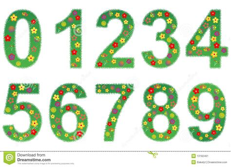 Vector Numbers Relating To Spring And Summer Stock Vector  Illustration Of Flower, Background