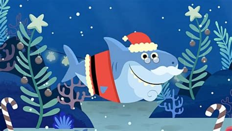 move  baby shark  santa shark christmas song