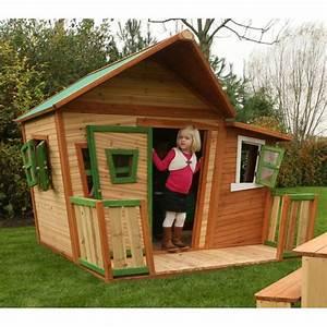 Cabane En Bois Pour Enfant : maisonnette cabane enfant bois lisa achat vente ~ Dailycaller-alerts.com Idées de Décoration