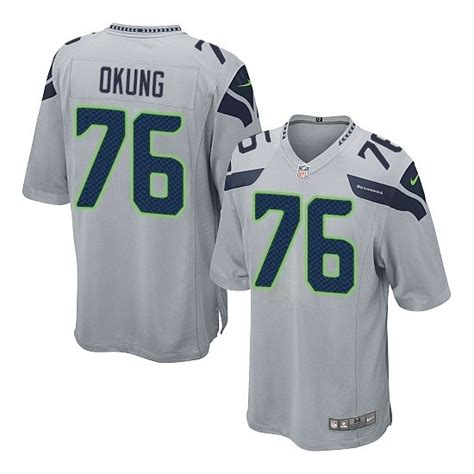 Youth Russell Okung Elite Grey Alternate Jersey