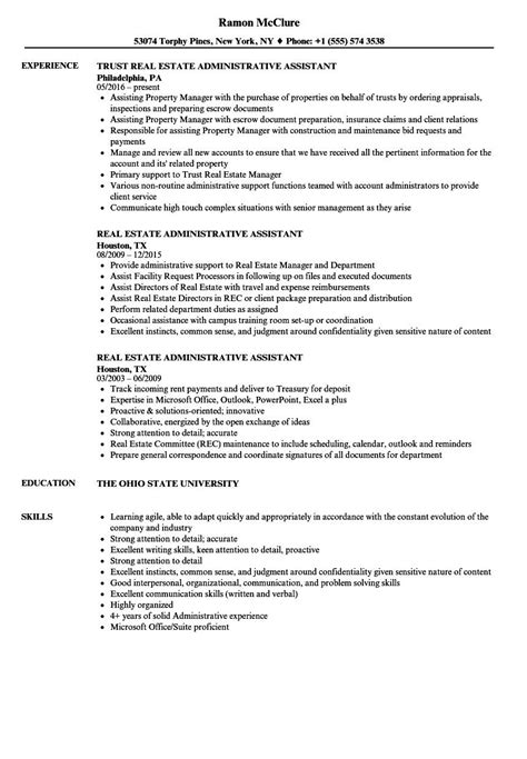 resume administrative assistant estate sample job office samples jobs examples modern impressive paralegal manager templates associate howtobackup template pdf