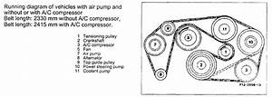1988 Mercedes 300e Serpentine Belt Diagram  I Need To Know