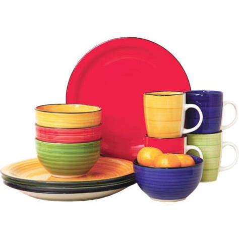 colorful dinnerware sets gibson 12 piece color vibes stoneware dinnerware set for 4 105948 12 brandsmart usa