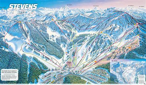 stevens pass ski resort washington mountain map wa trail skiing resorts snowboarding area summit award evo elevation history base guide