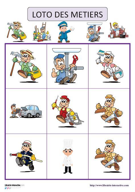 metier autour de la cuisine un jeu de loto 18 images sur le thème des métiers jeux