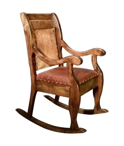 Cowhide Rocking Chair by Traditional Rocking Chair Wood Frame With Leather Or