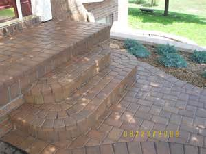 how to build patio steps from pavers modern patio outdoor