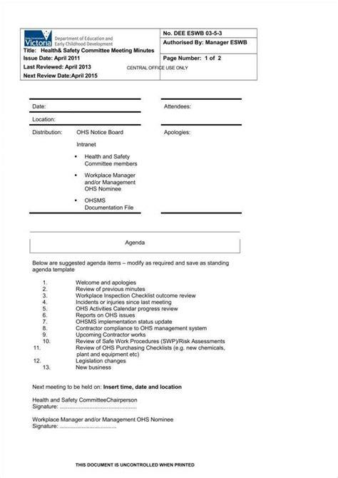 meeting summary templates    format