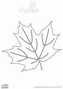 Feuilles D Automne à Imprimer : coloriage d une tr s jolie feuille tomb e d un arbre automne avec halloween coloring pao et ~ Nature-et-papiers.com Idées de Décoration