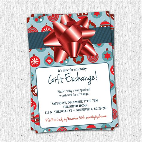 Christmas Holiday Gift Exchange Party Invitation Blue Or Green. Online Wedding Rsvp Template. Penn State Graduation 2018. Simple Resignation Letter For Moving Out Of State. Ag Graduate Jeans Sale. Fifth Grade Graduation Dresses. Chinese New Year 2017 Video. Graduation Rates By State. Church Flyer Templates