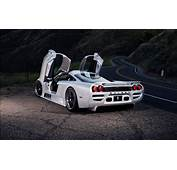 Silver Saleen S7  Doors Open Rear View Black Wheels