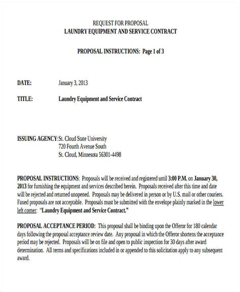 contract proposal examples  word examples