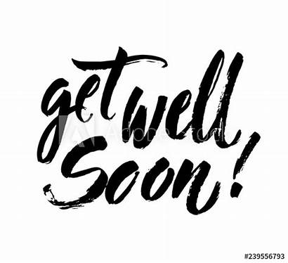 Well Soon Calligraphy Card Brush Lettering Positive
