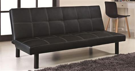 canapé 190 cm deco in banquette clic clac noir couture blanche