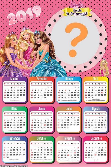 calendario escola de princesas montagem fotos