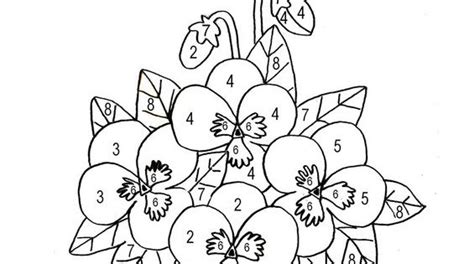 coloriage magique pot de fleurs printanier spring