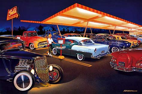 Car Paintings Of The 50 & 60s  Contact Bruce Kaiser  518