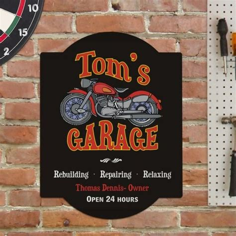Personalized Garage Sign  Custom Motorcycle Sign. Concrete Garage Floor Coating. Precision Garage Door Atlanta. Flood Vents For Garage. Springs For Garage Door. Prices On Garage Doors. Type Of Insulation For Garage. Garage Cabinets Plans. Used Glass Garage Doors For Sale