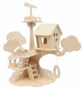 Basteln Mit Holz : marabu 046000005 mara 3d puzzle baumhaus duo schreib ~ Lizthompson.info Haus und Dekorationen