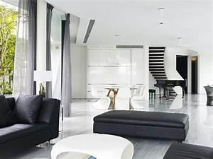 Unique Maison Contemporaine En Noir Et Blanc  U00e0 Singapour
