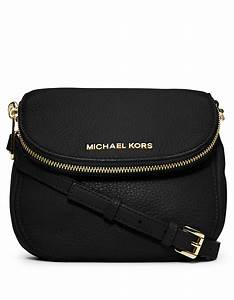 Michael michael kors Bedford Leather Flap Crossbody Bag in ...