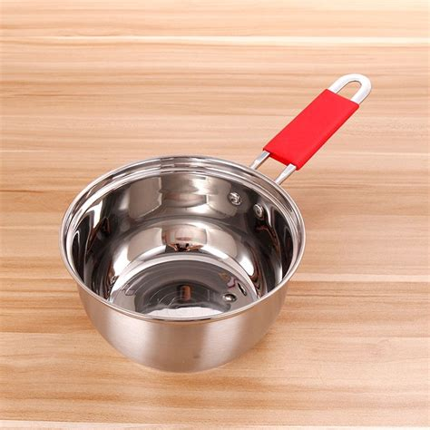 stainless steel cookware stove stainless cookware small induction pot  silicone handle