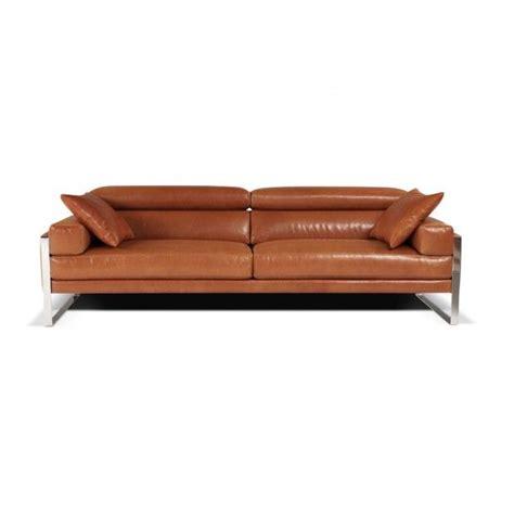 canape calia calia italia romeo leather sofa mid century modern