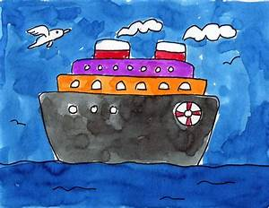 Cruise Ship - Art Projects for Kids