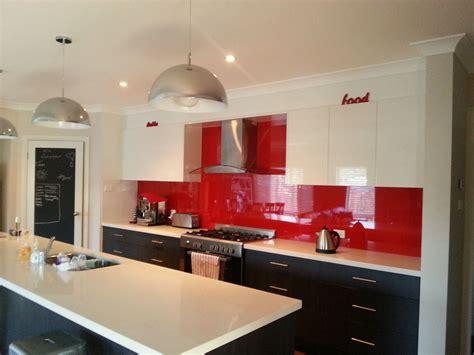 Red Kitchen Splashback Best Decision Ever  For The Home