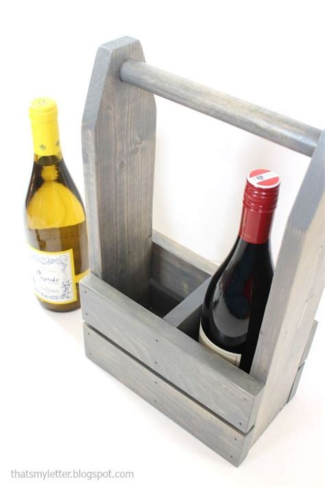 diy wine carrier   plans  cute