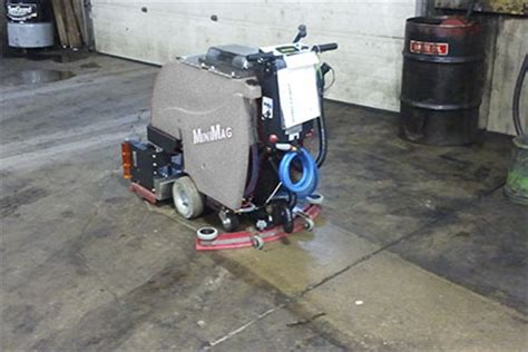 Industrial Concrete Floor Scrubber by Floor Scrubber Sweeper Minimag Walk Floor Scrubber