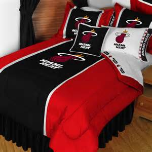 nba miami heat queen full comforter set 3pc basketball