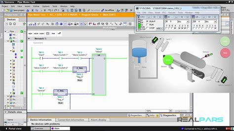 85 pipe water test plc program part 5 how to use timers in plc programming realpars
