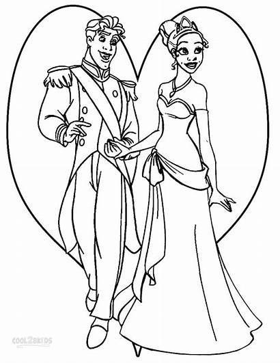 Tiana Coloring Princess Prince Pages Frog Naveen