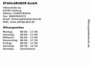 Verkaufsoffener Sonntag Limburg : ffnungszeiten stahlgruber gmbh h henstr e 6a in limburg ~ Watch28wear.com Haus und Dekorationen