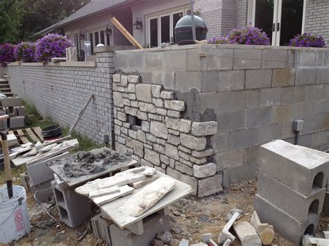 cinder block retaining wall cinder block retaining wall ideas for better look